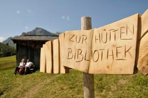 Hüttenbibliothek in Lech Zürs