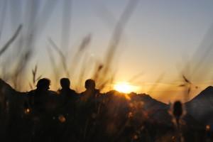 Sonnenuntergang in Lech